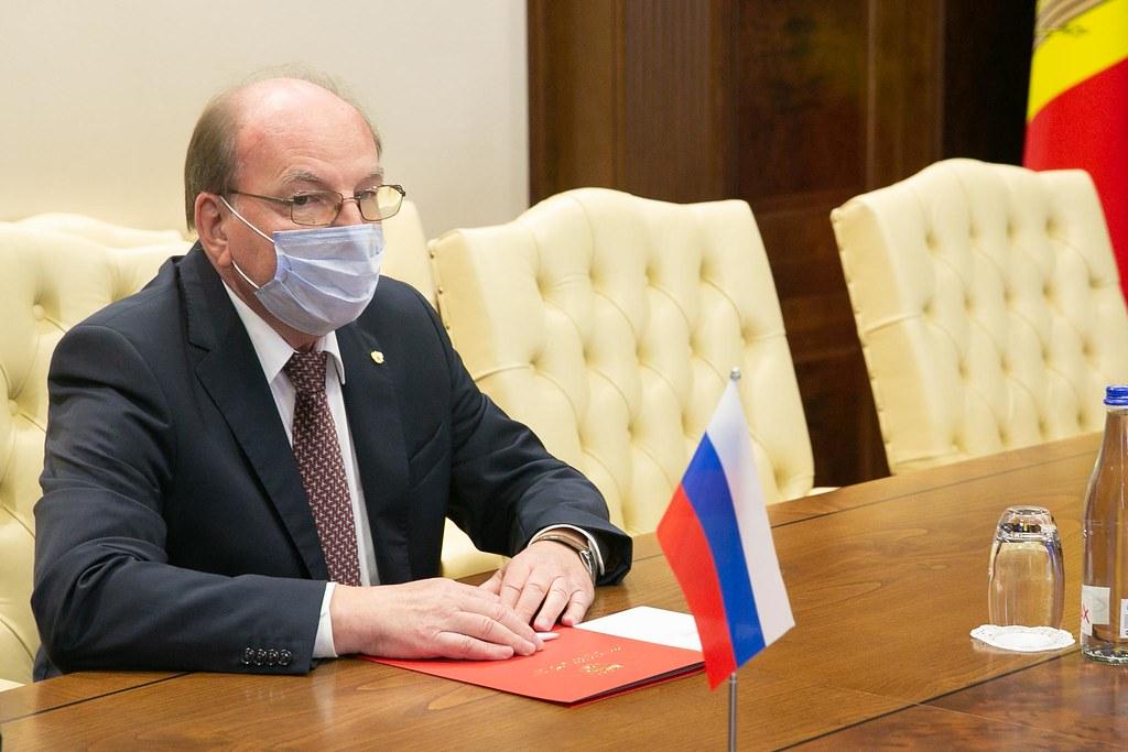 10.08.2021 Întrevederea Președintelui Parlamentului,  Igor GROSU, cu Ambasadorul Federației Ruse, Oleg VASNEȚOV