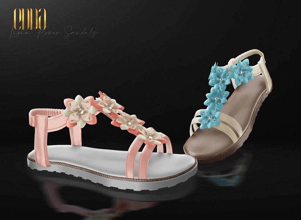 New Release@Livia Flower Sandals