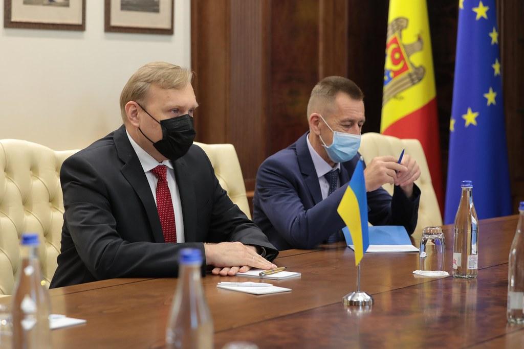 10.08.2021 Întrevederea Președintelui Parlamentului, Igor Grosu, cu Ambasadorul  Ucrainei, Marko Shevchenko