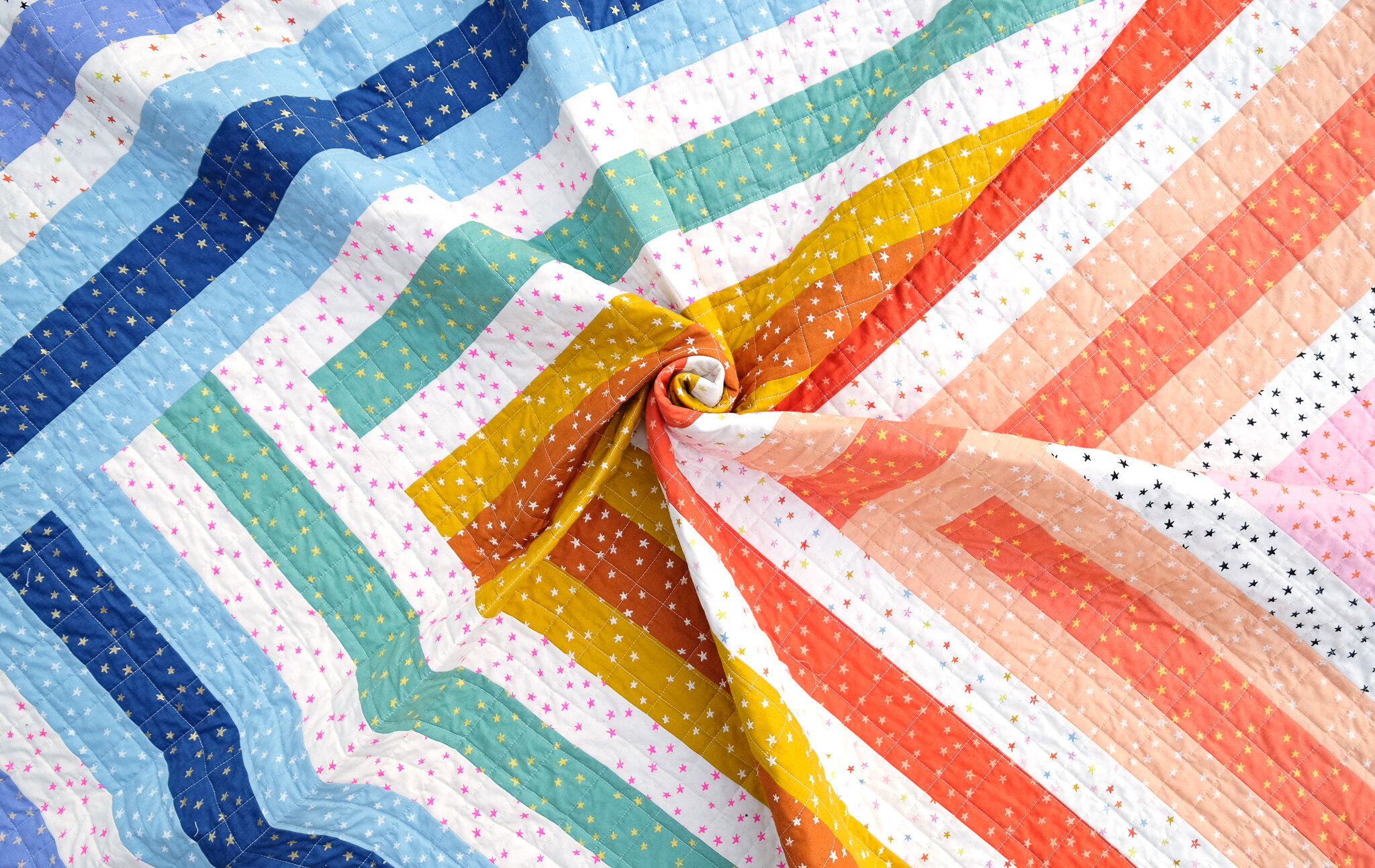The Zoe Quilt in Starry - Kitchen Table Quilting