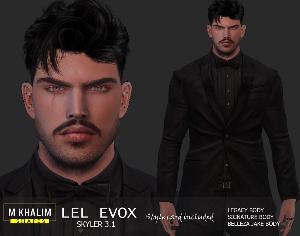 New Shape for Lelutka Head Evox Skyler 3.1