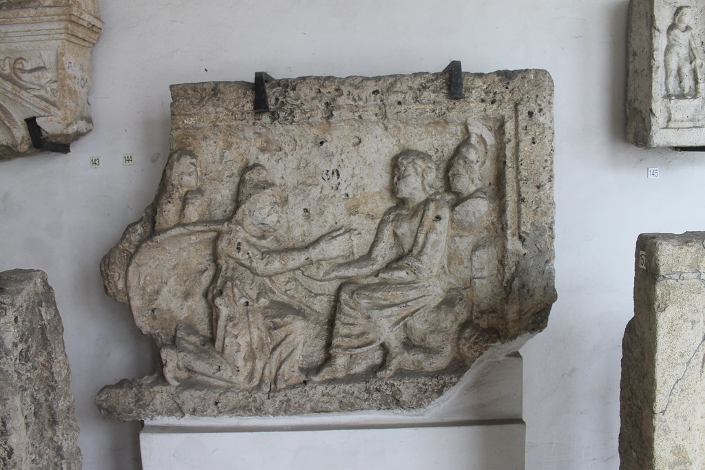 Relief of Priam begging Achilles from Hector