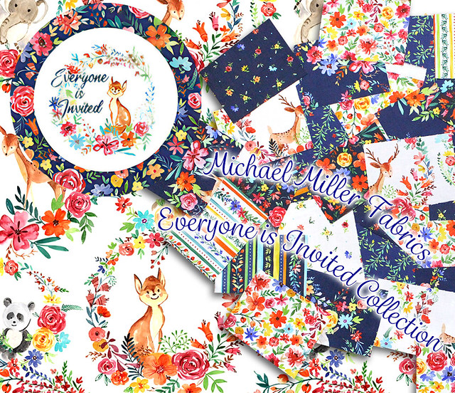 Michael Miller Fabrics Everyone is Invited Collection by MMF Designers