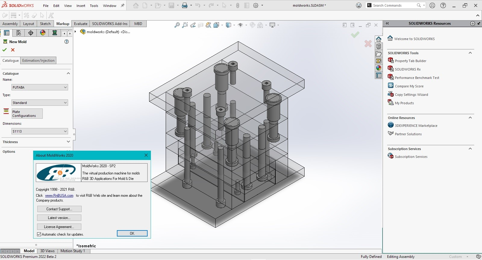 Working with R&B MoldWorks 2020 SP2 for SolidWorks 2015-2022 Win64 full