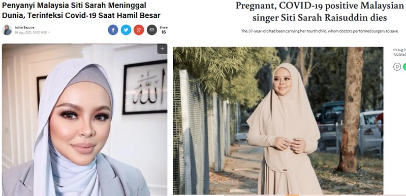 Pemergian Siti Sarah Sampai Dapat Liputan Antarabangsa, Ini Reaksi Netizen Luar Negara