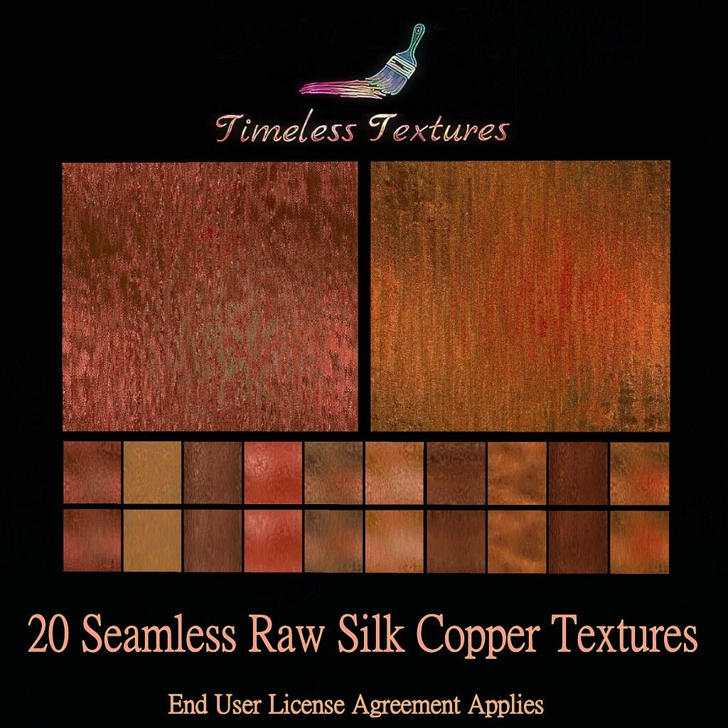 TT 20 Seamless Raw Silk Copper Timeless Textures