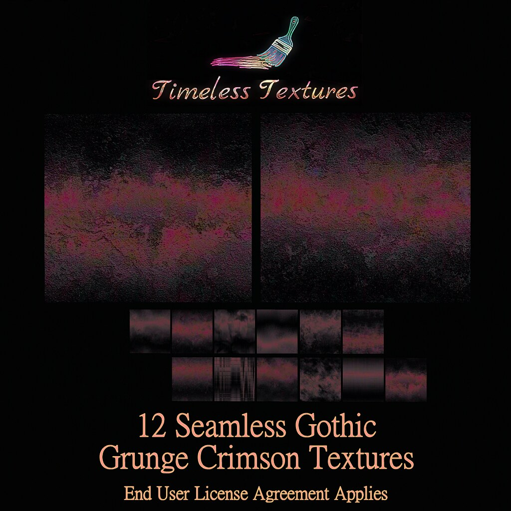 TT 12 Seamless Gothic Grunge Crimson Timeless Textures