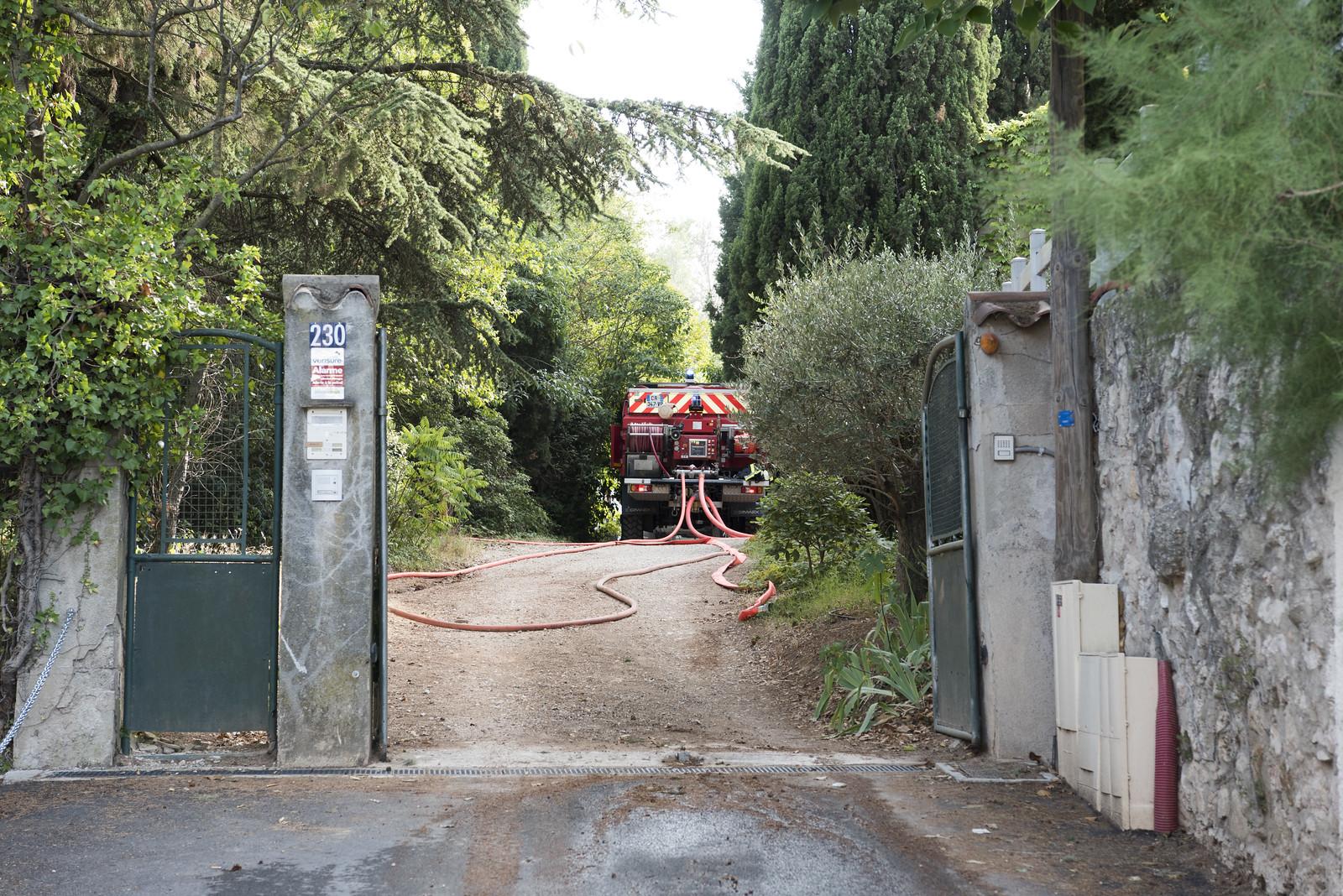 Opérations : A 51 : le feu de véhicule se propage à la végétation