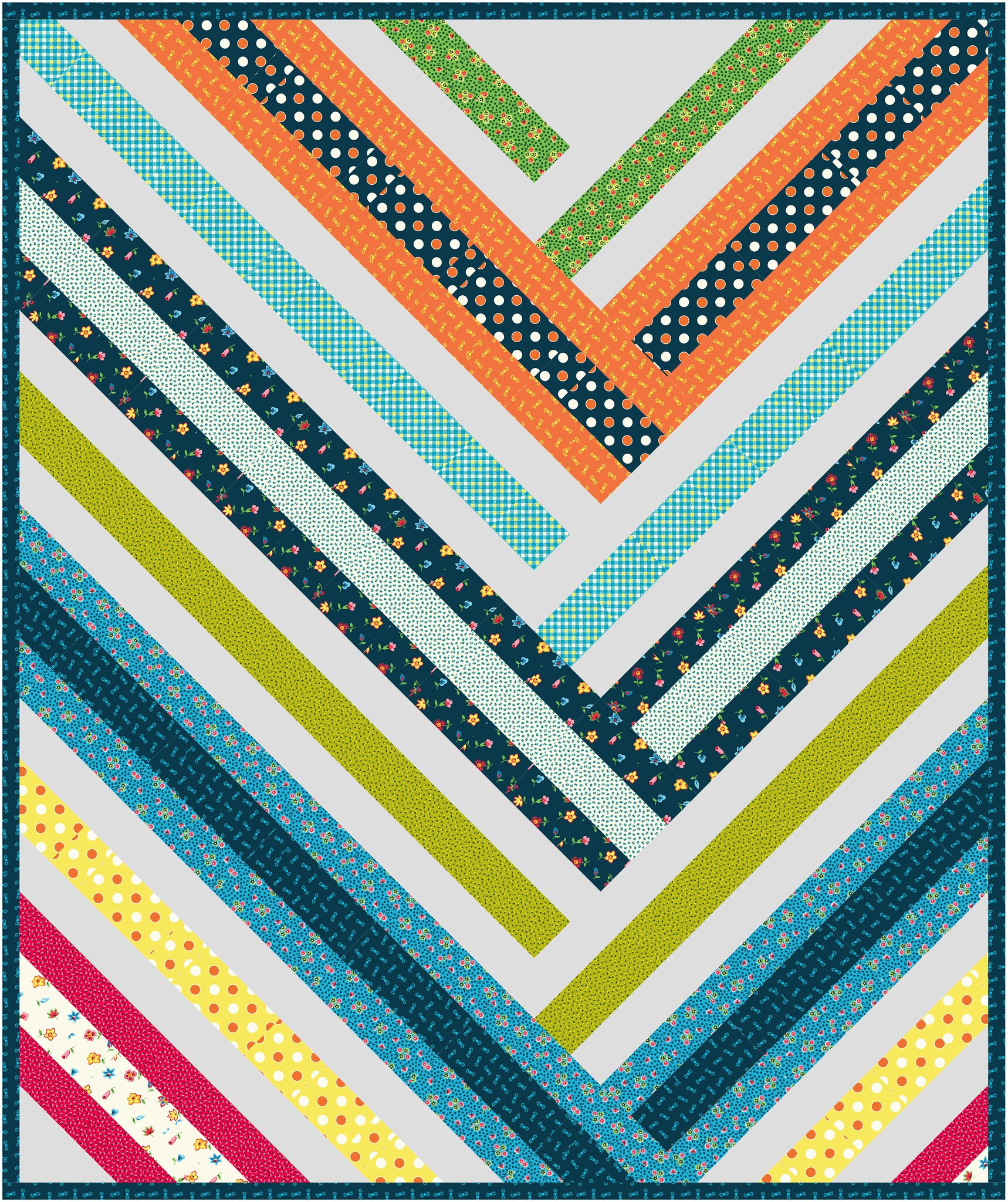 The Zoe Quilt Pattern in Five + Ten