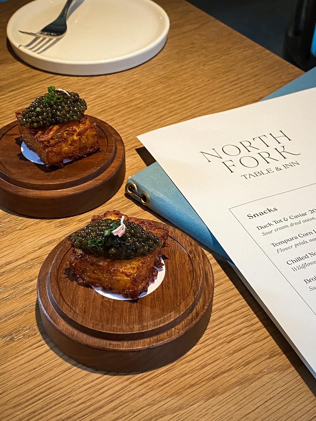 North Fork Table & Inn   Duck Tot & Caviar Bites