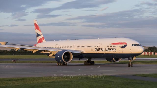 G-STBK British Airways Boeing 777-336ER EIDW 9-8-20 (1 of 3)