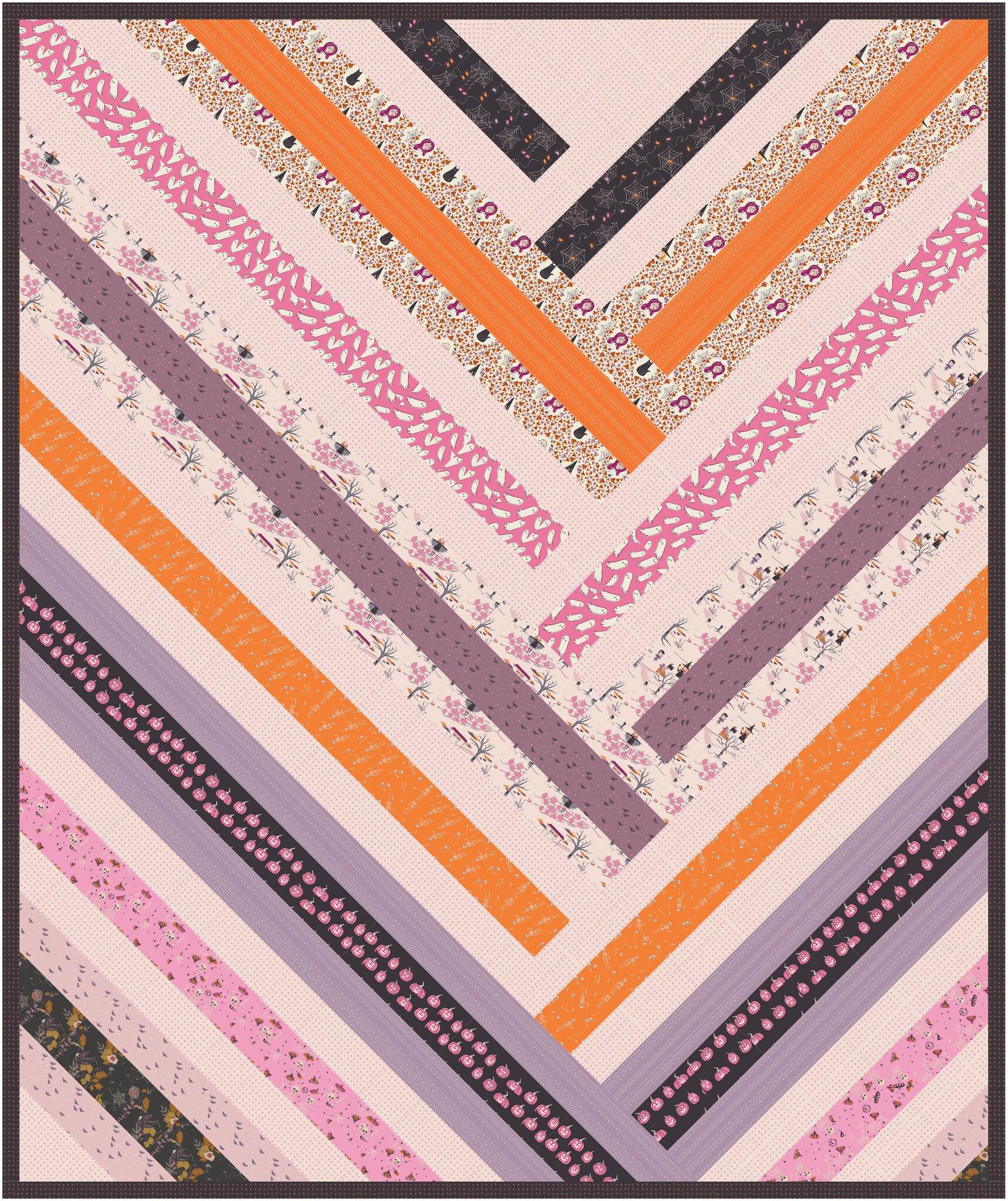The Zoe Quilt Pattern in Spooky and Sweeter