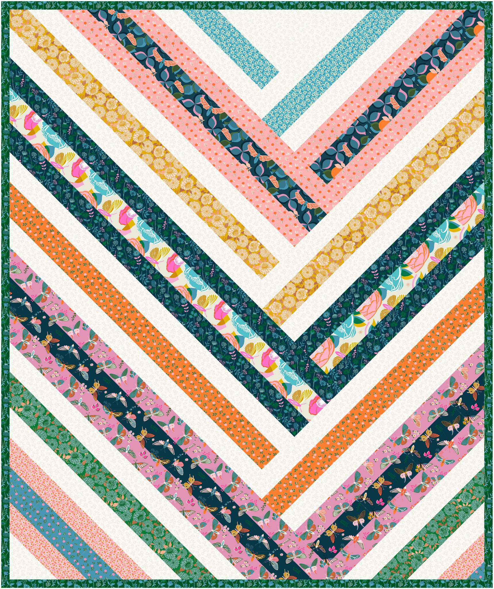 The Zoe Quilt Pattern in Stay Gold