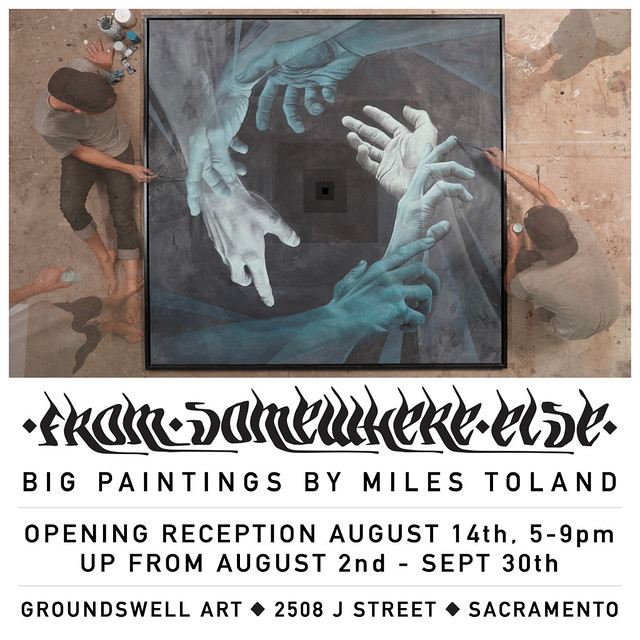 GroundSwell Show Flier Miles Toland