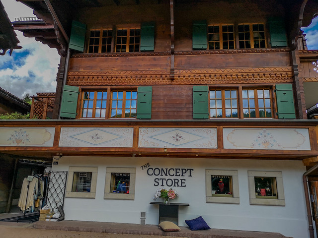 A chalet styled shop.