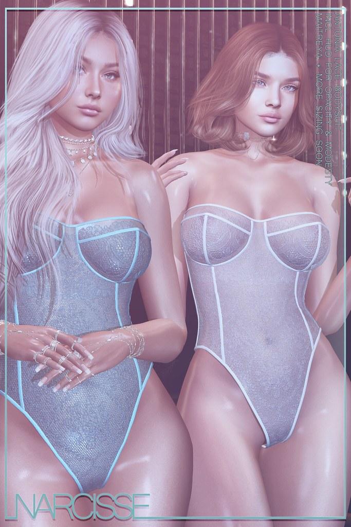 -Narcisse- Antonia Lace Bodysuit @ Fameshed X