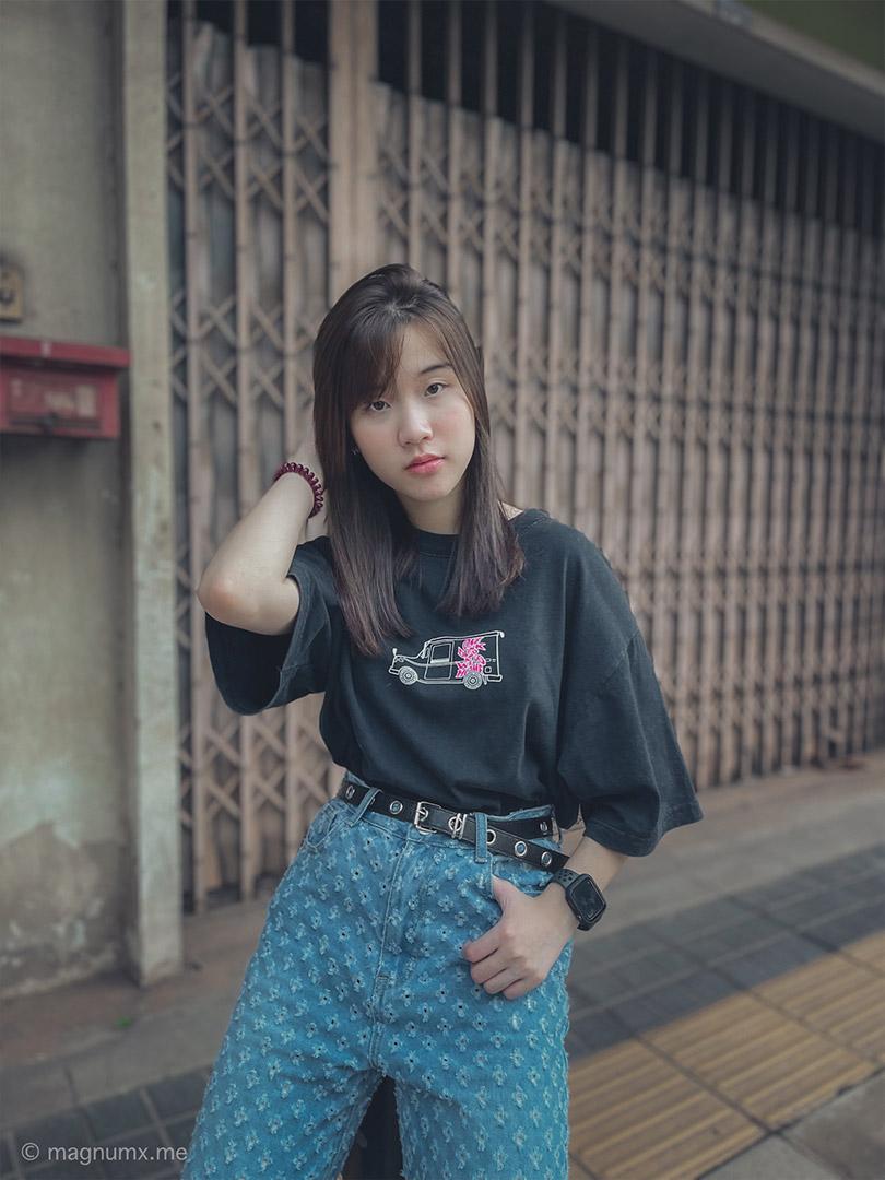 ถ่ายรูปแนวสตรีท iPhone 12 Pro Max นางแบบ จี้ @__jie.kmn