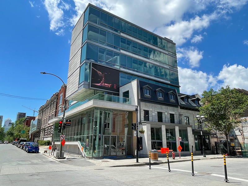 New renovated building - St-Denis st.
