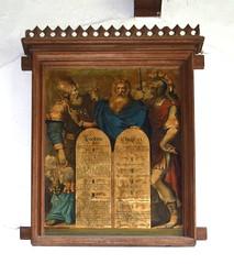 hand-coloured Ten Commandments