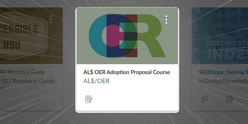 AL$ OER Adoption Proposal Course