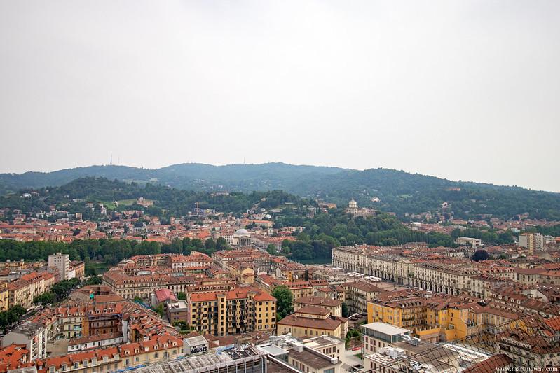 Vista dalla Mole Antonelliana, Torino dall'alto