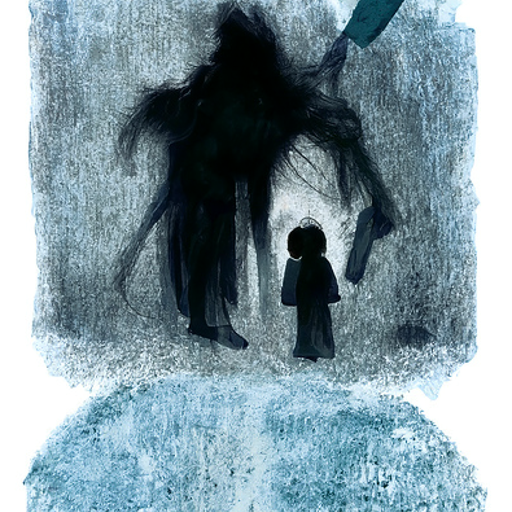 'a storybook illustration of a nightmare' CLIP Guided Diffusion v4 Text-to-Image