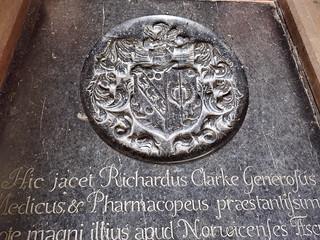 Richard Clarke, gentleman, doctor and chemist, 1682