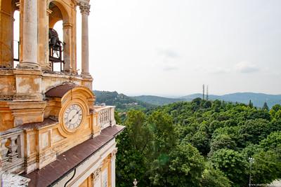 Vista dal tetto della Basilica di Superga