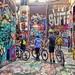 Bicyclists in Graffiti Alley, Ann Arbor  Michigan, July 15, 2021