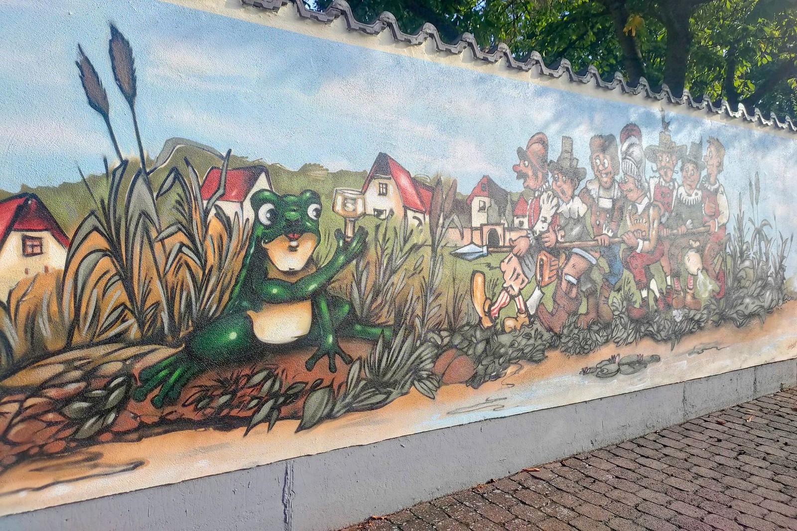 Selzer Frosch - Originalgetreue Nachbildung des berühmten Wandgemäldes in der Gaststätte Selzer Frosch