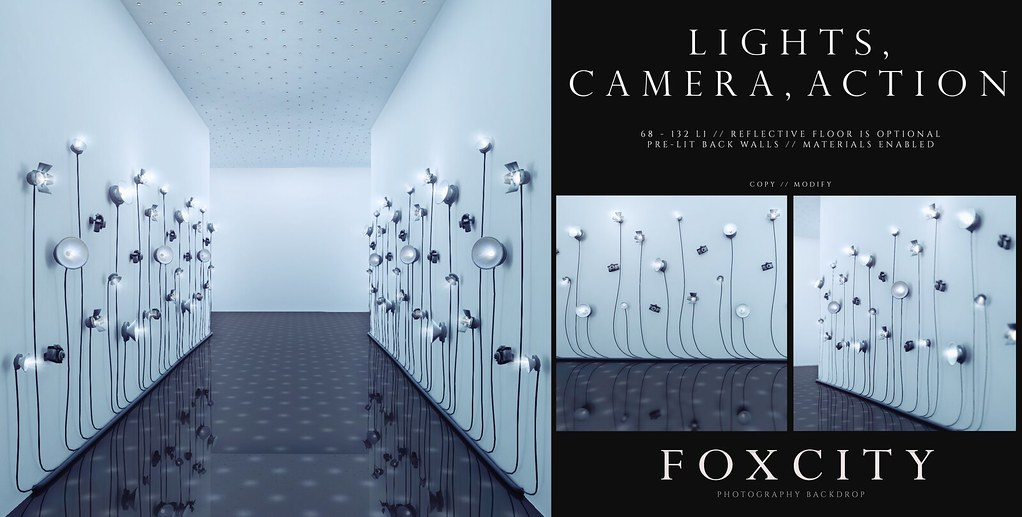 FOXCITY. Photo Booth – Lights, Camera, Action