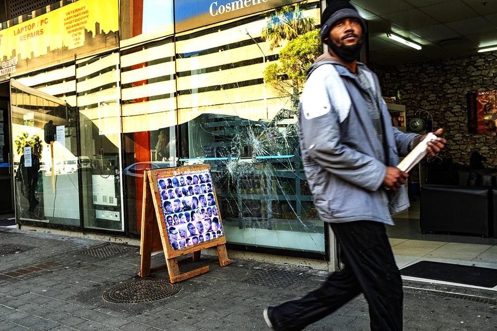 Broken shop window on 8-11-21--Cape Town 2