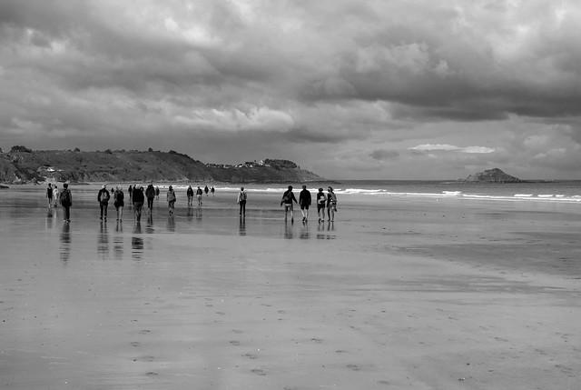 En marche ... sur la plage