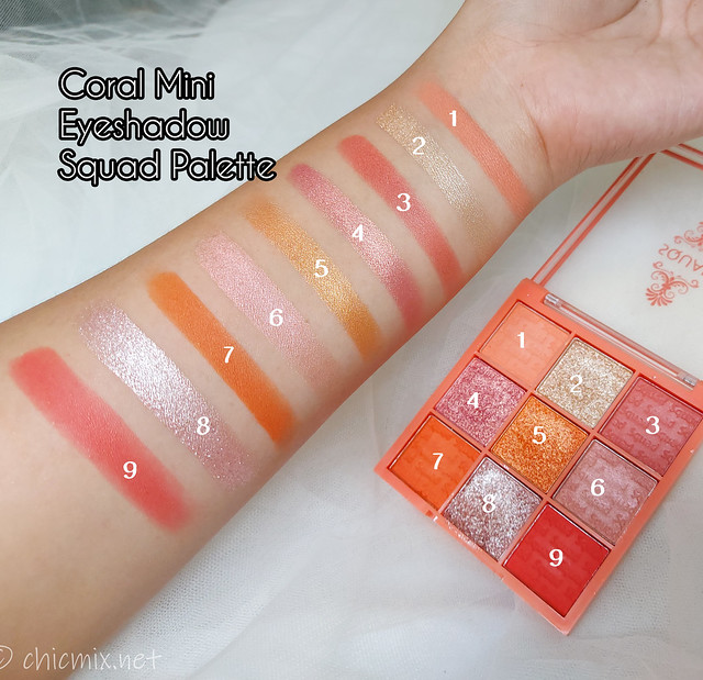 squad Coral Mini Eyeshadow Palette
