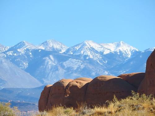 The La Sal Mountains, Arches National Park, Utah