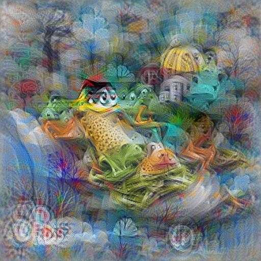 'digital art of frogs in the style of Dr Seuss' Aphantasia Text-to-Image