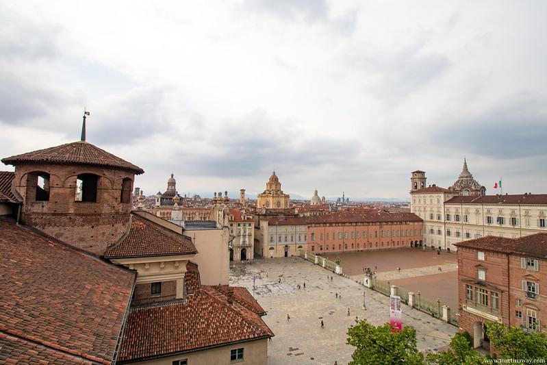 Vista da Palazzo Madama, Torino dall'alto