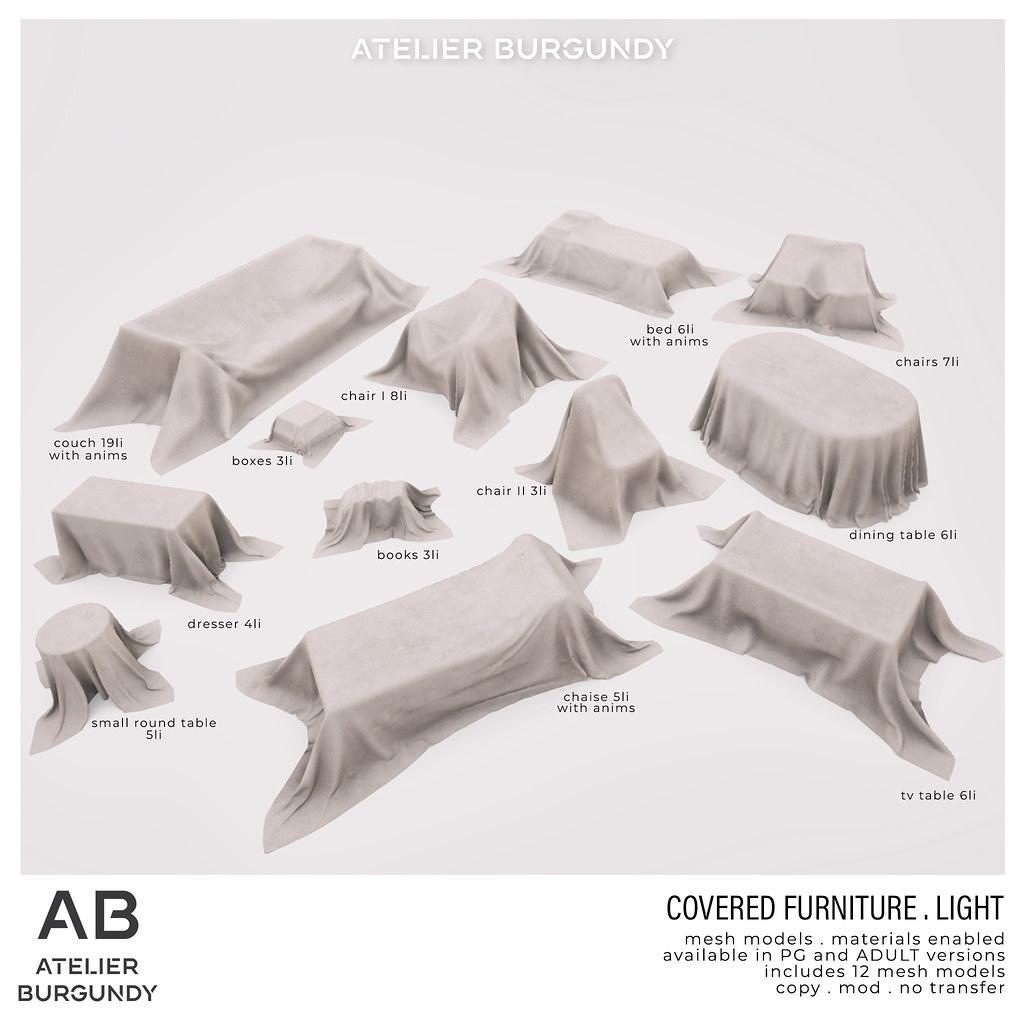 Atelier Burgundy . Covered Furniture light