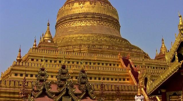 MYANMAR, Burma - Bagan-Nyaung U ,rund um die Shwezigon-Pagode, Stupa,  78418/13932