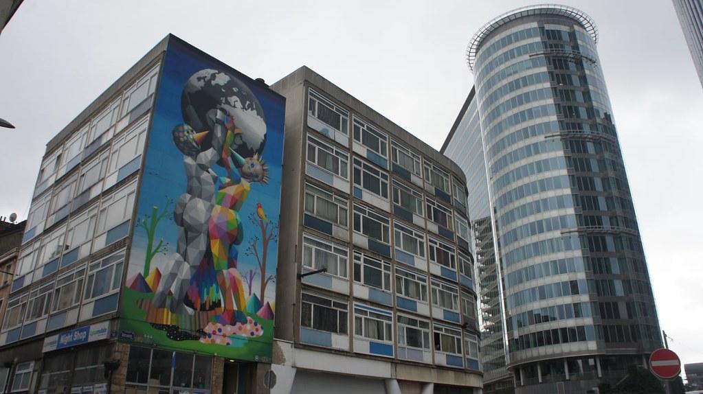 Arte urbano en el barrio financiero