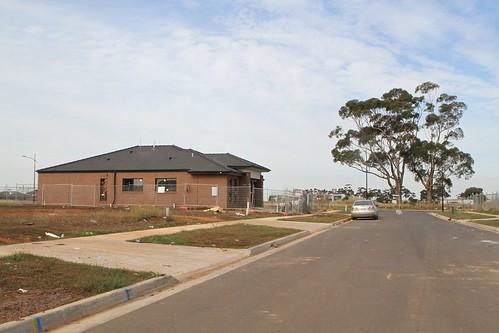 New housing taking shape on Petrolo Street at the Olivia Estate in Truganina