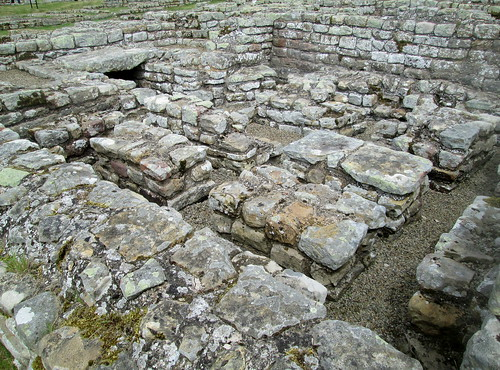 Commandant's House, Roman floor, Northumberland