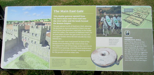 Main East Gate Board, Chesters Roman fort, Northumberland