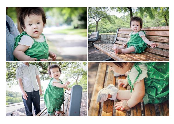 公園でロケーション撮影 1歳の女の子