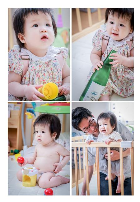 1歳のお誕生日記念の家族写真 出張撮影