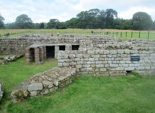Commandant's House , Chesters fort, Cilurnum, Northumberland, Roman ruin