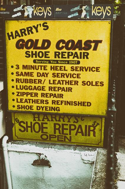 Harry's Gold Coast Shoe Repair Since 1907