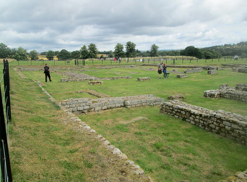 HQ building, Chesters Roman fort, ruins