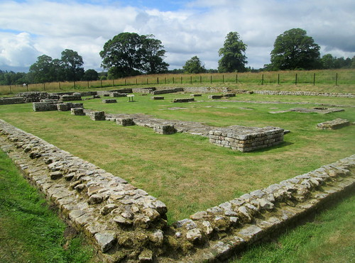 HQ Building Chesters Roman fort, Northumberland