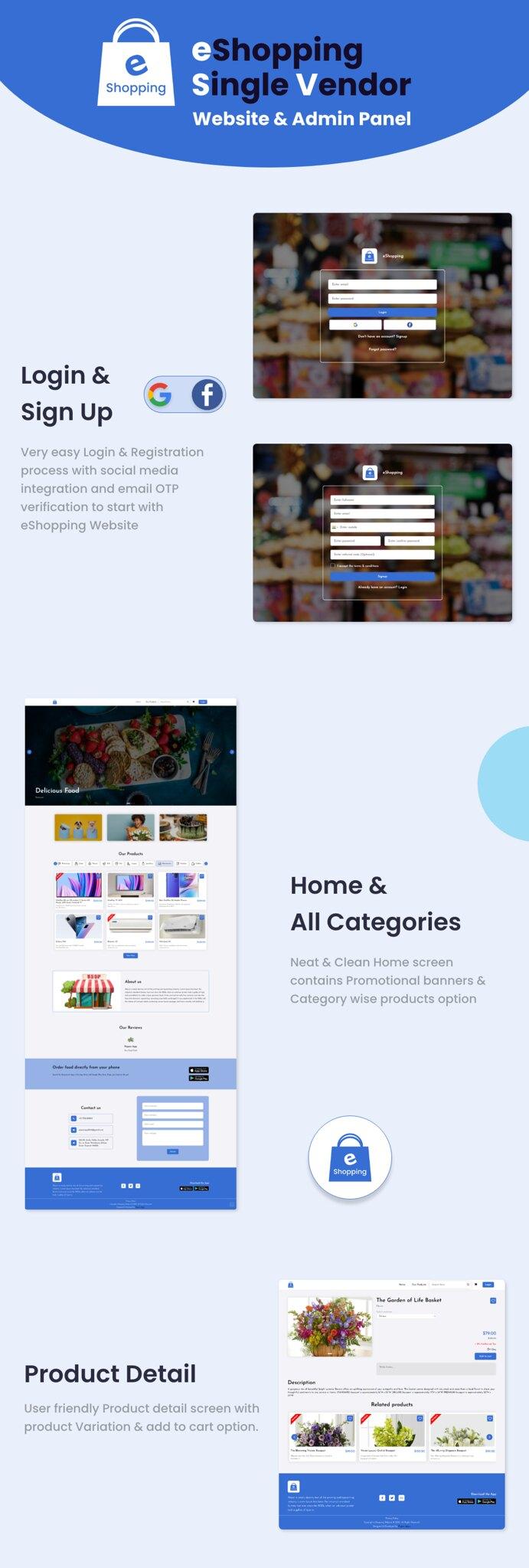 eShopping | Single Vendor Multi Purpose eCommerce System - Laravel Website - 9